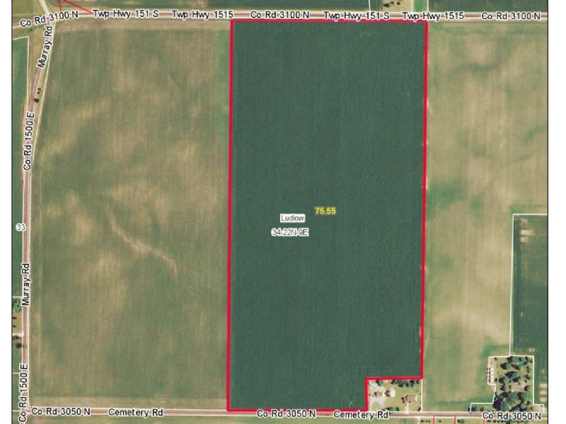 78.87 Acres - Prime Farmland : Rantoul : Champaign County : Illinois