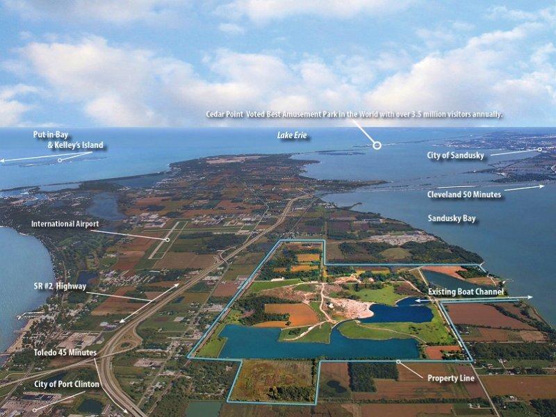 700± Acres - Lake Erie Waterfront : Port Clinton : Ottawa County : Ohio