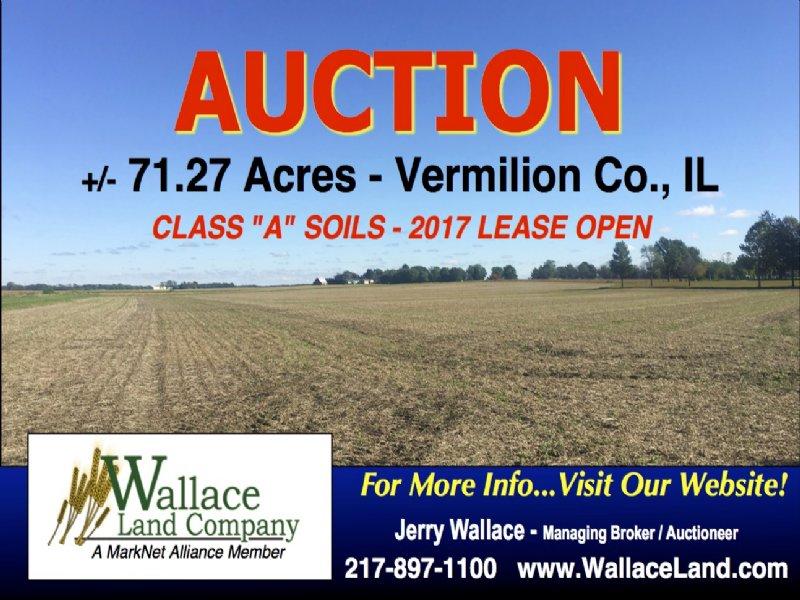 71.27 Acres - Class a Soils : Fairmount : Vermilion County : Illinois