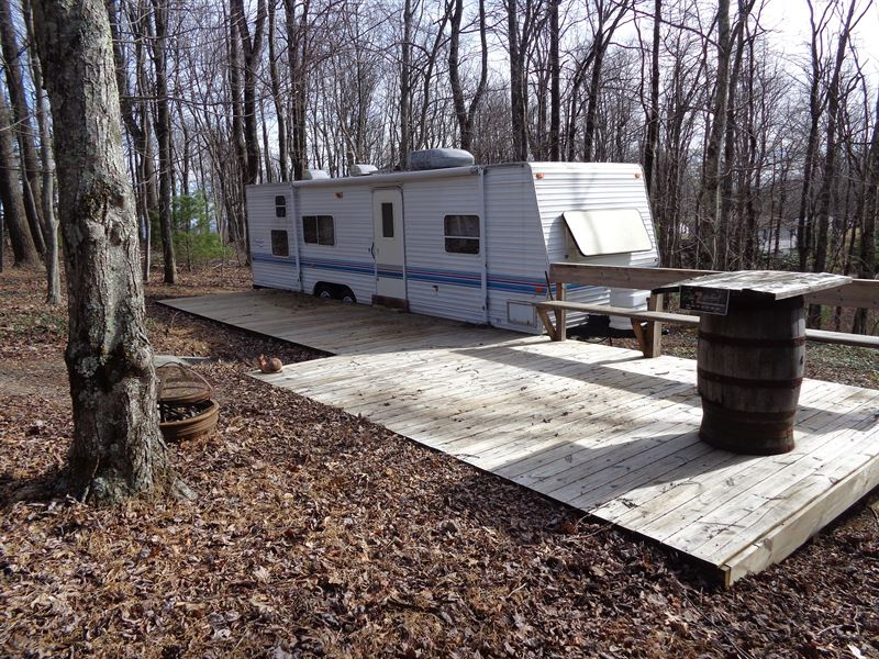 Corner Lot With Nice Camper Trailer : Sparta : Alleghany County : North Carolina