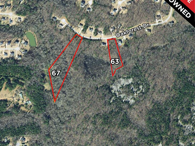 2 Lots In Longview Subdivision : Oxford : Newton County : Georgia