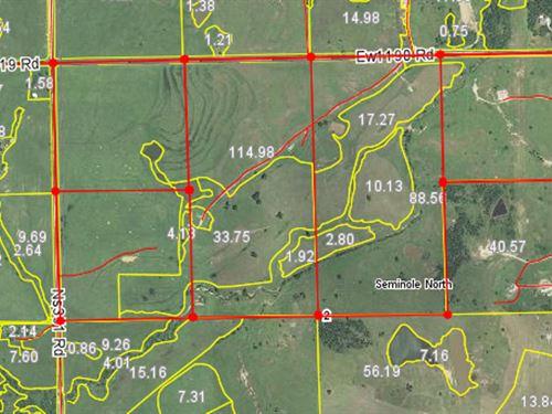 8/9/17 Auction 280 Acres Of Pasture : Shawnee : Seminole County : Oklahoma