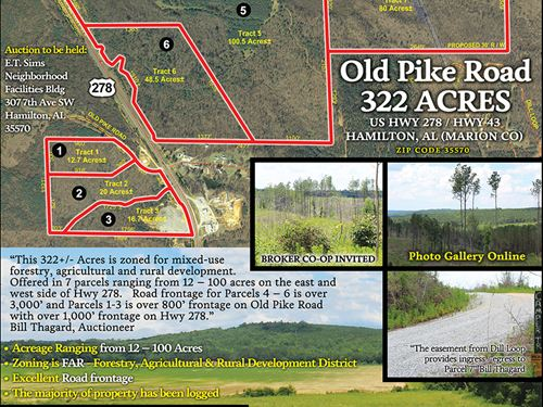 Old Pike Rd - Offered In 7 Tracts : Hamilton : Marion County : Alabama