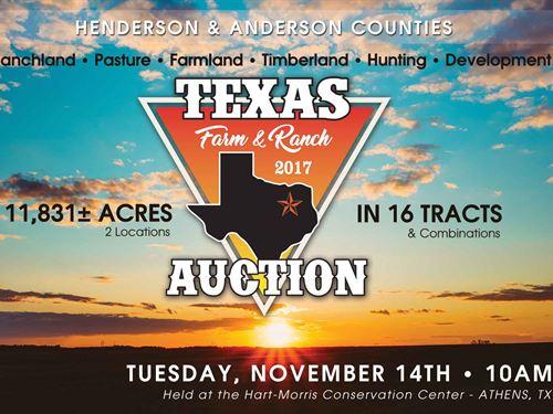 Texas Farm And Ranch Auction : Malakoff : Henderson County : Texas