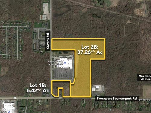 37.26 ac Lowe's Outparcel. : Brockport : Monroe County : New York