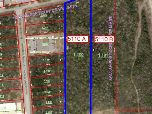 2 Commercial Lots In Al : Spanish Fort : Baldwin County : Alabama