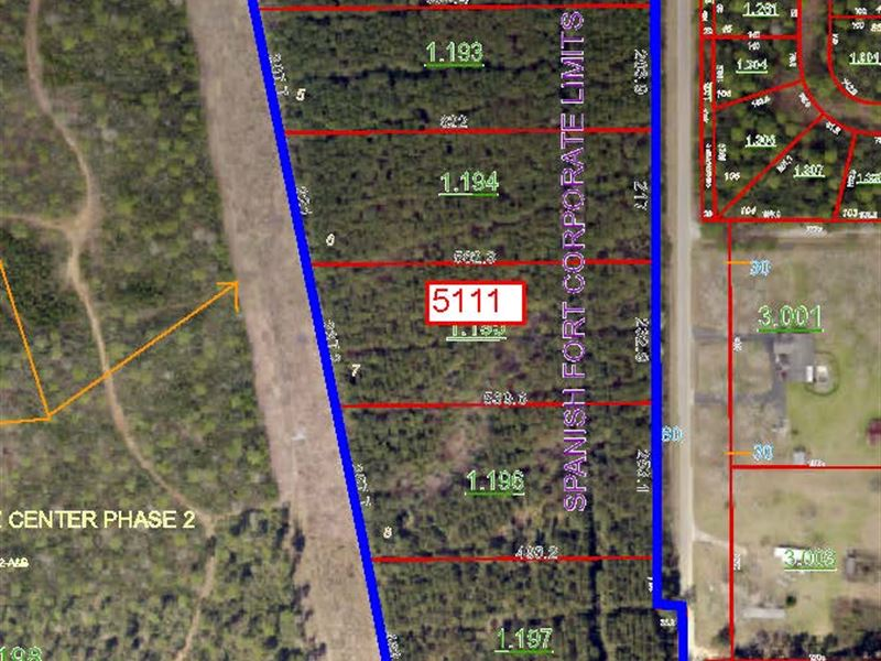 6 Commercial Lots In Al : Spanish Fort : Baldwin County : Alabama