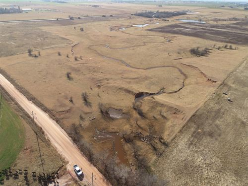 Grass Pastures, Cropland And Ponds : Okarche : Kingfisher County : Oklahoma