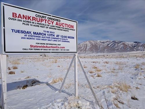 Court Ordered Bankruptcy Auction : Tooele : Utah