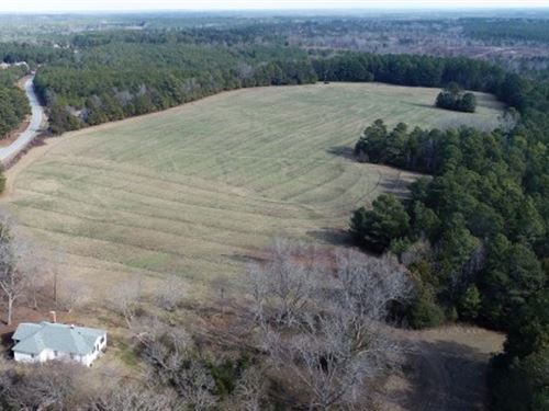 Established Pasture, Pond & House : Winnsboro : Fairfield County : South Carolina