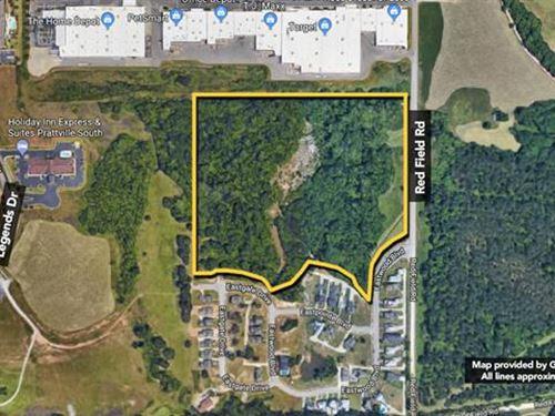 Subject is a 22.96 Acre Land Tra : Prattville : Autauga County : Alabama