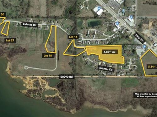 Commercial Vacant Land Totaling : Grove : Delaware County : Oklahoma