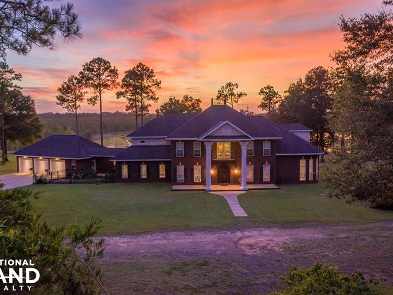 Wilmer Lakefront Home & Farm : Wilmer : Mobile County : Alabama