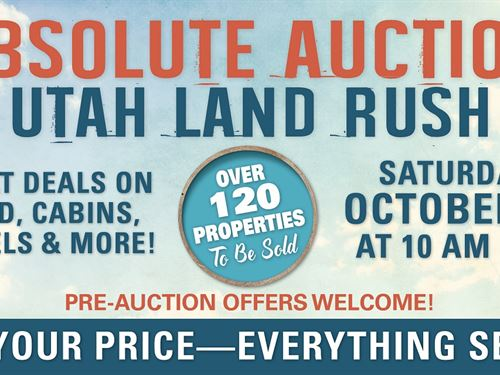 Absolute Auction, Utah Land Rush : Duchesne : Utah