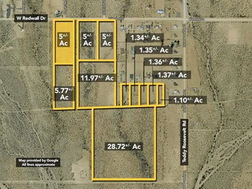 Land, Approx 5Ac Lot : Golden Valley : Mohave County : Arizona