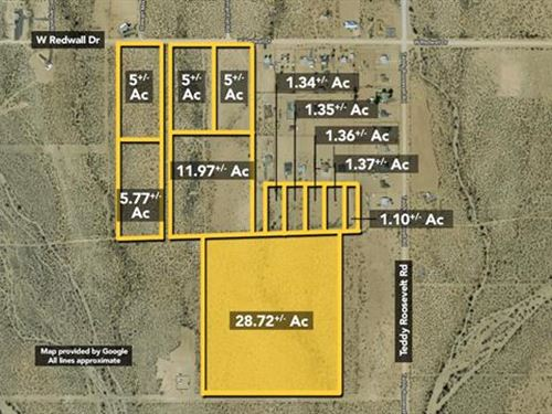 Land, Approx 28.72Ac Lot : Golden Valley : Mohave County : Arizona