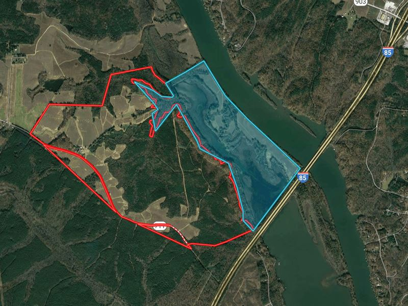Riverside 886 Acre Lake Gaston : Boydton : Mecklenburg County : Virginia