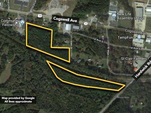 Land, Approx 11.04Ac Lot : Pell City : Saint Clair County : Alabama