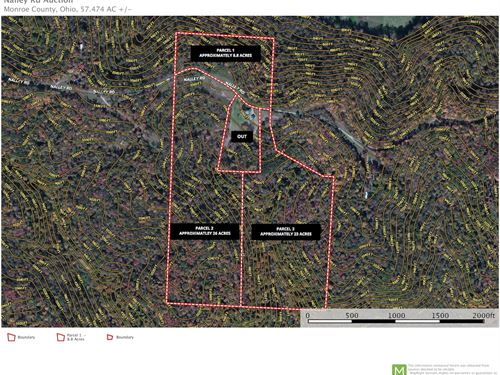 Nalley Rd, 57 Acres : Woodsfield : Monroe County : Ohio