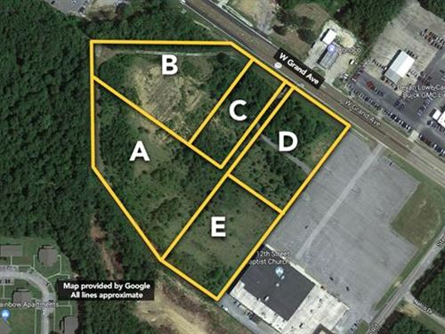 12 Acres in Five Lots, Locate : Gadsden : Etowah County : Alabama