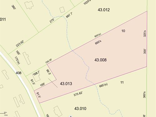 Land Auction, Tract 12 3.3 Acres : Dutton : Jackson County : Alabama