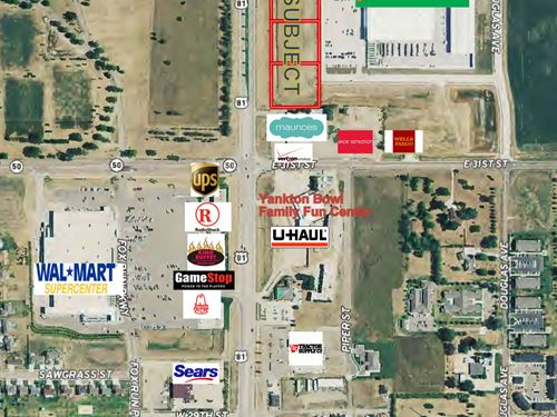 3 Commercial/Retail Building Sites : Yankton : South Dakota