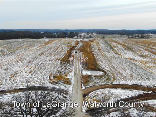 60 Ac Prime Farmland, Walworth Co : Little Prairie : Walworth County : Wisconsin