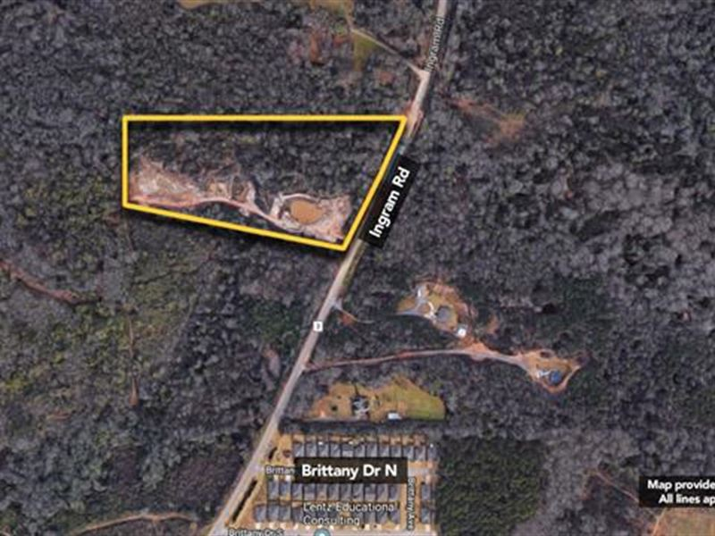 Land, Approx 11.14Ac Lot : Elmore : Elmore County : Alabama