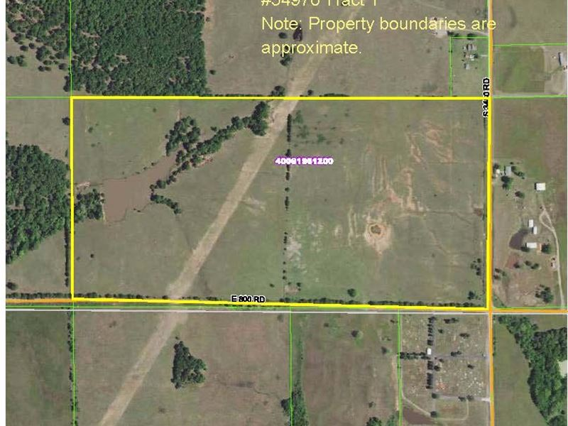 Tract 1 80 Acres Real Estate : Chandler : Lincoln County : Oklahoma
