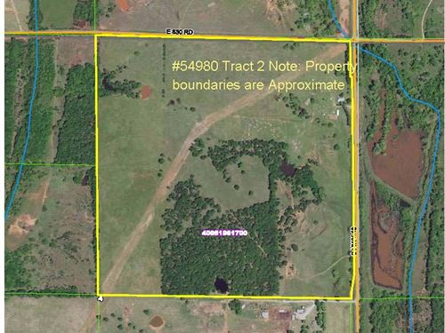 Tract 2 160 Acres Real Estate : Chandler : Lincoln County : Oklahoma