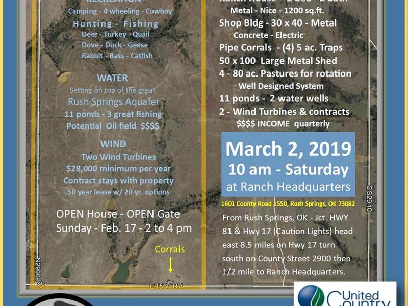 Grady County, Oklahoma Land : Rush Springs : Grady County : Oklahoma