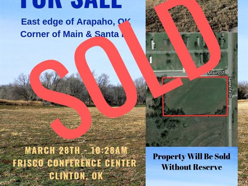 Commercial & Residential Land : Arapaho : Custer County : Oklahoma