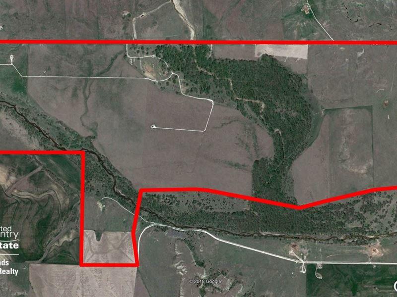 850 Acres Hunting Land, Pasture : Hays : Ellis County : Kansas