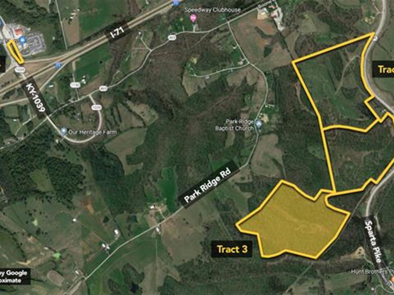 65.1 Ac, Here's a Diverse Mid : Sparta : Gallatin County : Kentucky