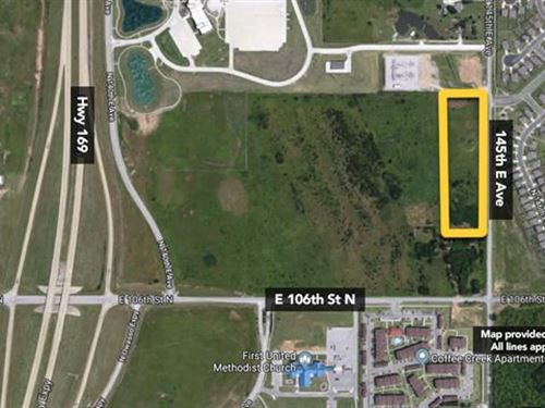 6.2 ac of Vacant Land in Tulsa : Owasso : Tulsa County : Oklahoma