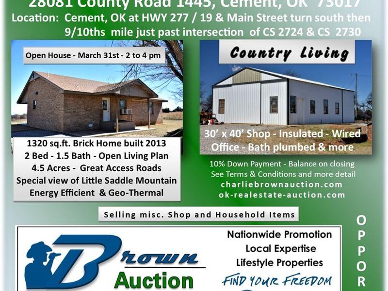 Ronald Prather Estate Auction : Cement : Caddo County : Oklahoma