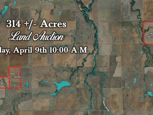 315 Acres In 3 Tracts : Carnegie : Kiowa County : Oklahoma
