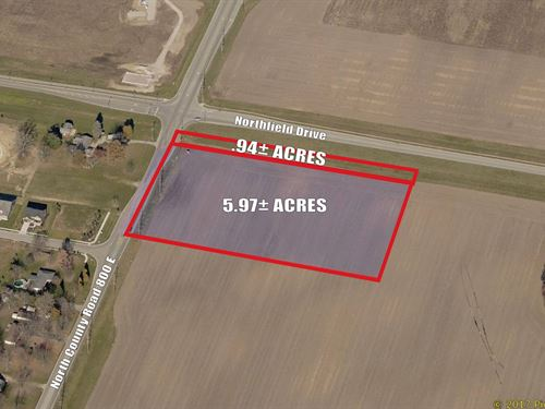 6.91+/- Acres Of Commercial Land : Avon : Hendricks County : Indiana