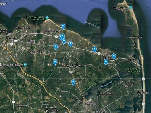 12 Foreclosed Building Lots : Middletown : Monmouth County : New Jersey