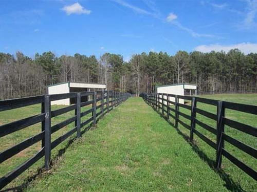 Horse Farm With Utility Barn : Newnan : Coweta County : Georgia