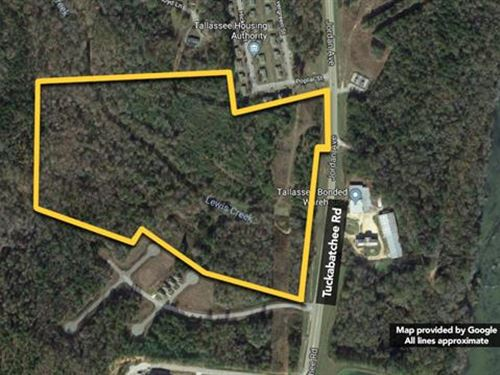 Land, Approx 47.65Ac Lot, Ap : Tallassee : Elmore County : Alabama