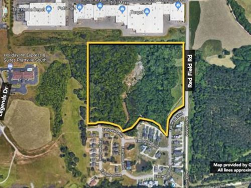 Subject is a 22.96 Acre Land Tra : Prattville : Autauga County : Alabama