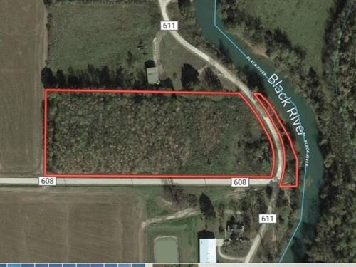 6 Acres Land Timber Black River : Poplar Bluff : Butler County : Missouri