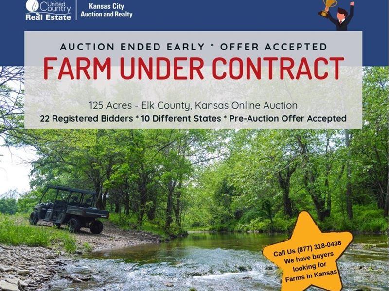 Auction, Hunting Land, Live Water : Grenola : Elk County : Kansas