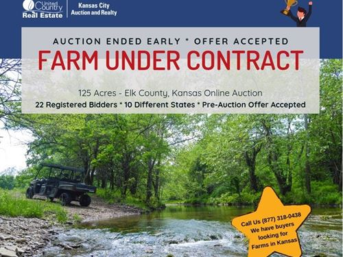 Auction, Hunting Land, Live Water : Grenola : Elk County : Kansas