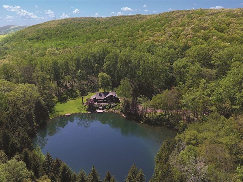 Hawk Pond 177 Acre Mountain Retreat : Oxford : Warren County : New Jersey