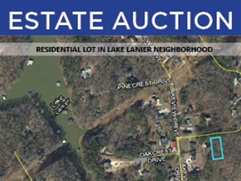 Lake Sinclair Residential Lot : Gainesville : Hall County : Georgia
