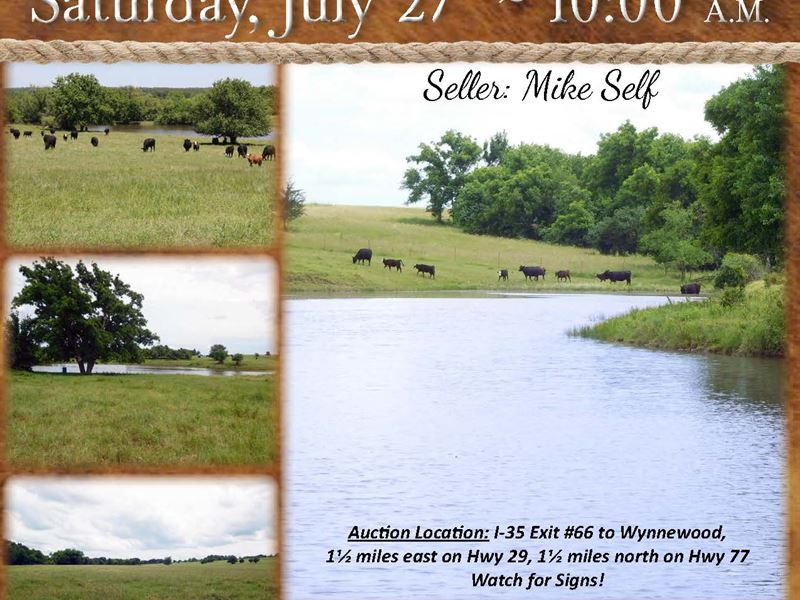 Beautiful Farm With Ponds And Views : Wynnewood : Caddo County : Oklahoma