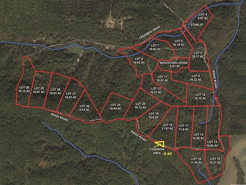 24 Mountain Building Lots : Ferguson : Wilkes County : North Carolina