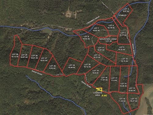 24 Mountain Building Lots : Ferguson : Wilkes County : North Carolina